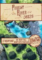 Forest River Battlemap (Hand-drawn)