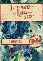 Underwater Ruins Battlemap (Hand-drawn)