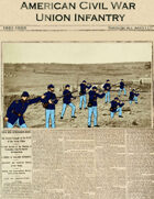 American Civil War Union Infantry paper soldiers