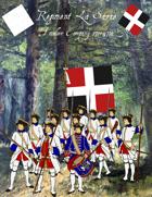 French & Indian War Regiment La Sarre paper soldiers