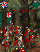 French & Indian War 45th Regiment paper soldiers