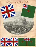 1780-1802 British 55th Regiment Flags