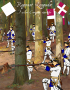 French & Indian War Regiment Languedoc paper soldiers