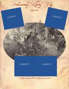 """1774-1783 Schenectady """"Liberty"""" Flag"""