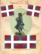 1704 Bavarian Regiment Elss Flag