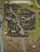 """City of Morgesteen"" Coastal City Map"
