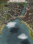 """""""Turicum"""" Lake City Map"""