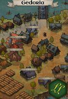 """""""Gedoria"""" Mountain Farm Town Map"""