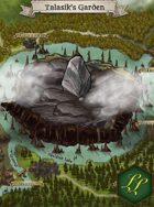 """Talasik's Garden"" Landscape Scenery Lake Map"