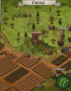 """""""Farna"""" Farming Town Map"""