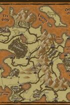 """""""Fausa"""" Island Continent World Map"""