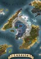 """Lunacia"" Island Continent World Map"