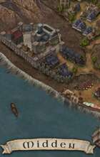 """""""Midden"""" Coastal Fort Cliff Town Map"""