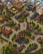 """""""Baisa"""" Forest Mountain Town Map"""