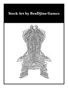 Stock Art: Bone Chair (Skeleton Stock Art)(Undead Stock Art)