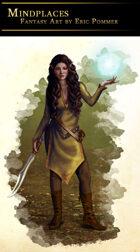 Elven Sorceress Stock Art