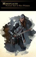 Female warrior Stock Art