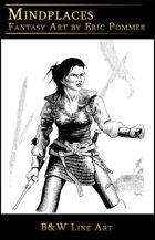 Line Art, Female Warrior in chain mail