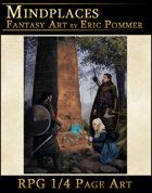 Quarter Page, Mysterious Obelisk stock art