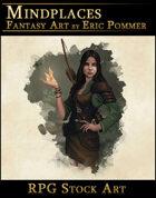 Female Elf Druid Stock Character Art