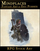 Winter Huntress RPG Stock Art