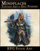 Female Elf Warrior RPG Stock Art