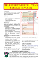 Melestrua's Session Tracker