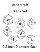Papercraft Dice Set - Blank - 9.5in