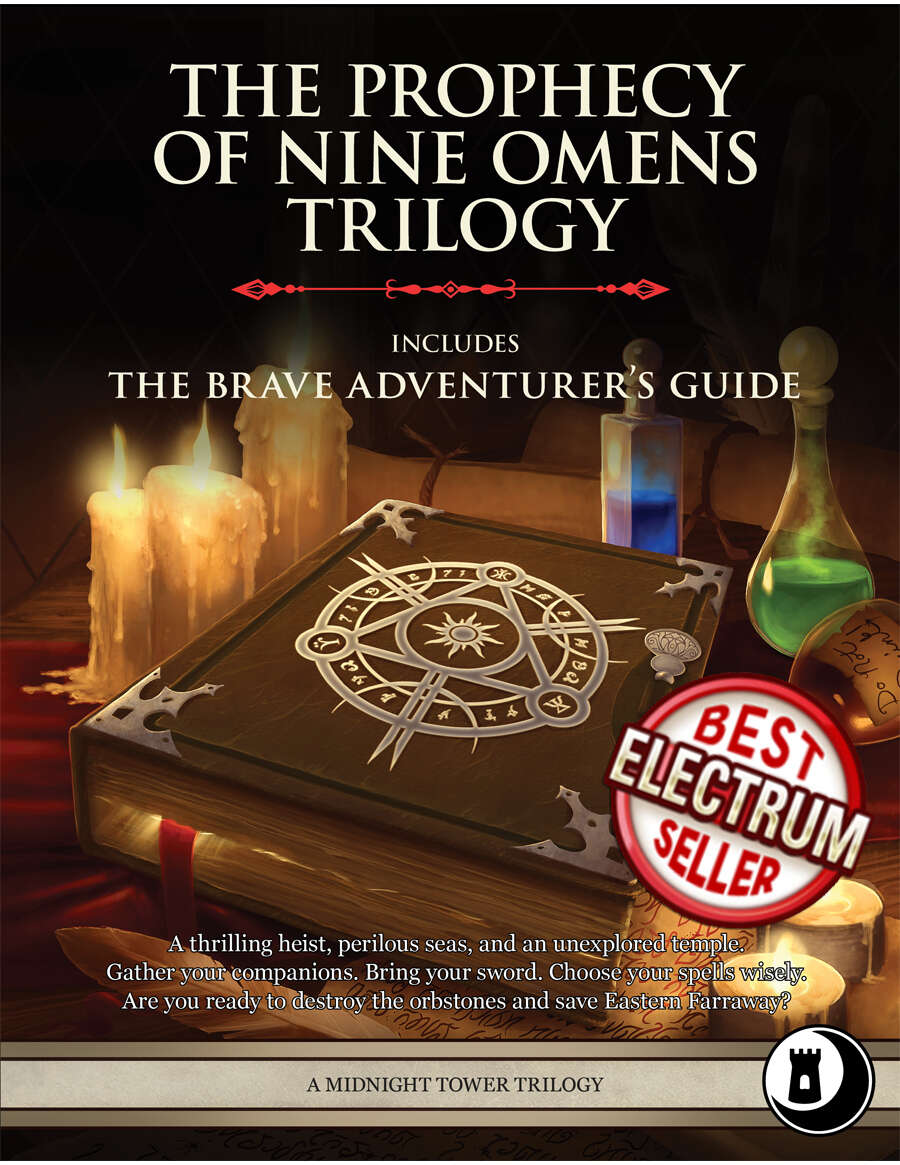 The Prophecy of Nine Omens Trilogy - Level 10-12 Adventures and Compendium