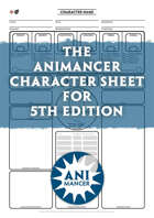 The Animancer Character Sheet For Fifth Edition