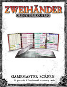ZWEIHANDER Grim & Perilous RPG: Gamemaster Screen