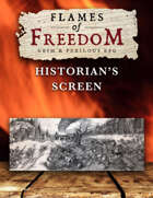 FLAMES OF FREEDOM Grim & Perilous RPG: Historian's Screen – Powered by Zweihander RPG