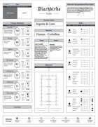 BLACKBIRDS RPG: Sample Character Sheet – Powered by Zweihander RPG