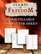 FLAMES OF FREEDOM Grim & Perilous RPG: Character Sheets – Powered by Zweihander RPG