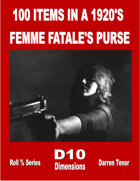 100 Items in a 1920's Femme Fatale's Purse
