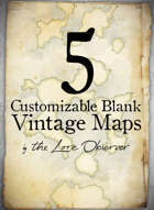 5 Customizable Blank Vintage Maps