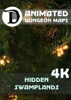 Animated Dungeon Maps: Hidden Swamplands 4K