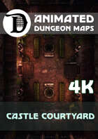 Animated Dungeon Maps: Castle Courtyard 4k