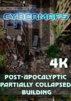 Cybermaps: Post-Apocalyptic Partially Collapsed Building 4k