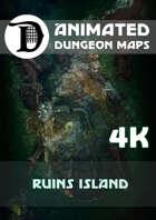 Animated Dungeon Maps: Ruins Island 4k