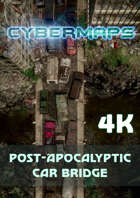 Cybermaps: Post-Apocalyptic Car Bridge 4k