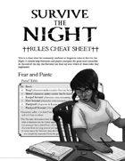 Survive the Night: Cheat Sheet