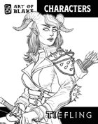 Character Stock Art - Tiefling - Lineart