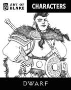 Character Stock Art - Dwarf - Lineart