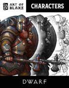 Character Stock Art - Dwarf Male Art Pack