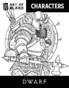 Character Stock Art - Dwarf Male - Lineart