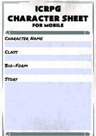 ICRPG Mobile Character Sheet