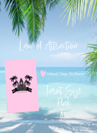 Law of Attraction - Tarot Size - Pink - 80 - by Island Time Wellness 54 + 26 Blank= 80 Cards