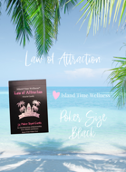 Law of Attraction - Poker Size - Black/White Text - by Island Time Wellness