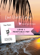 Island Time Wellness Love Oracle Cards 1 Print and Play PDF A4 Europe and USA Sizes Included | WITH Graphics